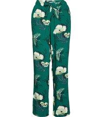 pant woven lotus bird pyjamasbyxor mjukisbyxor grön hunkemöller