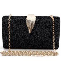 bolsa clutch liage brilhante metal brilho retangular alça alcinha dourada preta