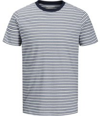 jack & jones men's stripe crew neck short sleeve t-shirt
