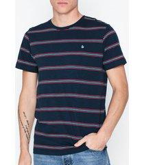 jack & jones jorstanford tee ss crew neck t-shirts & linnen blå