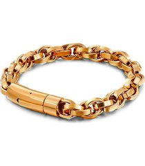 eye candy la women's luxe jacob 18k goldplated titanium braided bracelet