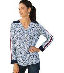 blouse amy vermont wit::blauw::rood