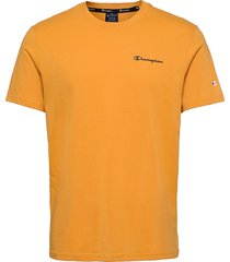 crewneck t-shirt t-shirts short-sleeved orange champion