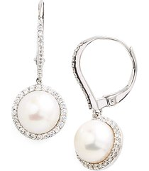 women's lafonn 'lassaire' pearl drop earrings