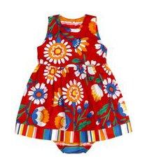 vestido floral listras