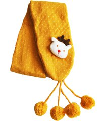 cachecol ania store rudolph amarela