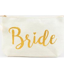 bridal straw pouch - ivory