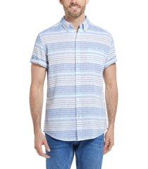 men's striped short sleeves shirt