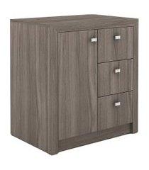 armário baixo me 4111 carvalho tecno mobili marrom