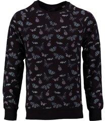 dstrezzed donkerblauwe sweater slim fit valt kleiner