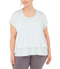 ideology plus size printed layered t-shirt, created for macy's