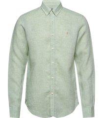 douglas linen shirt overhemd casual groen morris