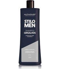 alfaparf stilo men shampoo grisalhos 250ml