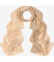 silk and wool scarf white 1