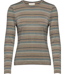 maya, 688 glitter jersey t-shirts & tops long-sleeved multi/patroon stine goya