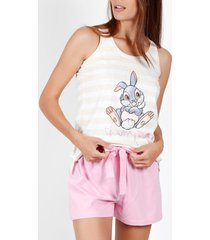 pyjama's / nachthemden admas pyjama korte tanktop thumper disney beige