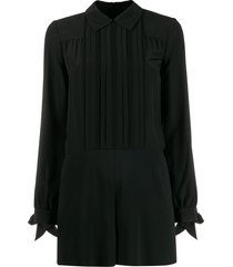 redvalentino pleated details playsuit - black