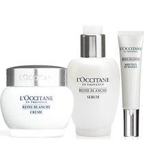 l'occitane rotina trio iluminação facial reine blanche