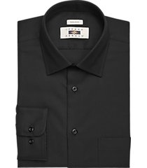 joseph abboud black twill modern fit dress shirt