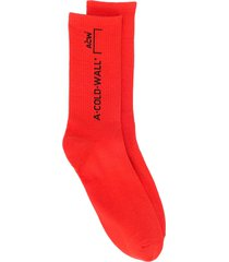 a-cold-wall* logo knit socks - red