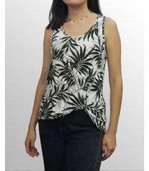 coin 1804 womens leaf print twist tank