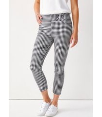 maurices womens gingham bengaline cropped pants