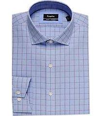 esquire blue & berry check slim fit dress shirt