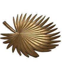 centro de mesa folha de palma dourada