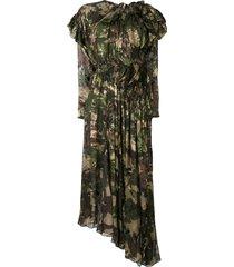 preen by thornton bregazzi stephanie camouflage flared dress -