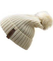 gorro de lana beanie snow 2.0 beige flaw