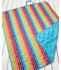 martha stewart collection rainbow stripe beach blanket, created for macy's bedding