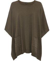 maglione oversize con borchiette (verde) - bodyflirt