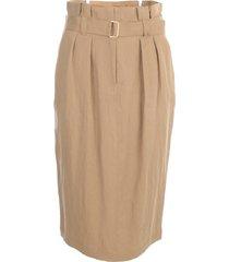 seventy longuette high waisted skirt w/belt