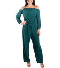 ny collection off-the-shoulder chain-neck jumpsuit