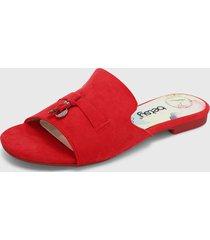 sandalia plana rojo betsy