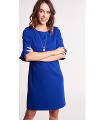 kobaltowa sukienka wizytowa