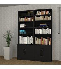 estante para livros 4 portas 1283 preto - foscarini