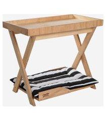 mesa lateral we madeira natural charlie pet marrom