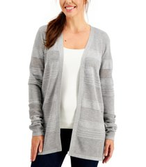 karen scott pointelle-knit open cardigan, created for macy's