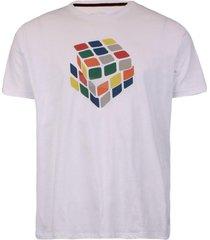 camisetas khelf camiseta masculina cubo mãgico branco - branco - masculino - dafiti
