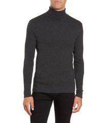 men's boss tenore cotton turtleneck sweater, size small - grey