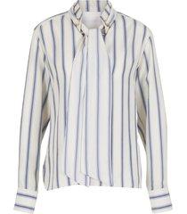 blouse met hoge kraag