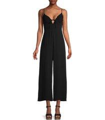 astr the label women's cicley wide-leg jumpsuit - black - size m