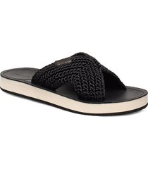 flatville sandal shoes summer shoes flat sandals svart gant