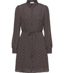 gekko print dress kort klänning grå modström