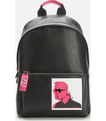 karl lagerfeld women's karl legend leather backpack - black
