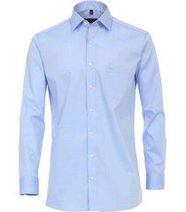 casamoda overhemd effen hemels kent modern fit blauw