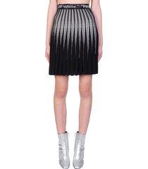off-white bold skirt in black viscose