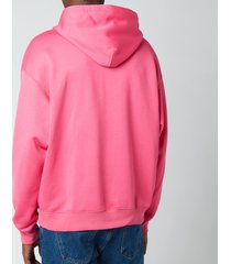 mackage men's pheonix fleece jersey hoodie - fushsia - l