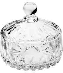 vaso potiche cristal wolff 11x11cm louise transparente
